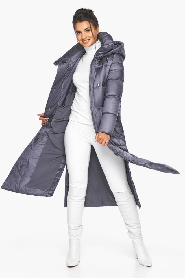 """Женская зимняя куртка длинная цвет жемчужно-серый модель 41830 Braggart """"Angel's Fluff"""" фото 3"""