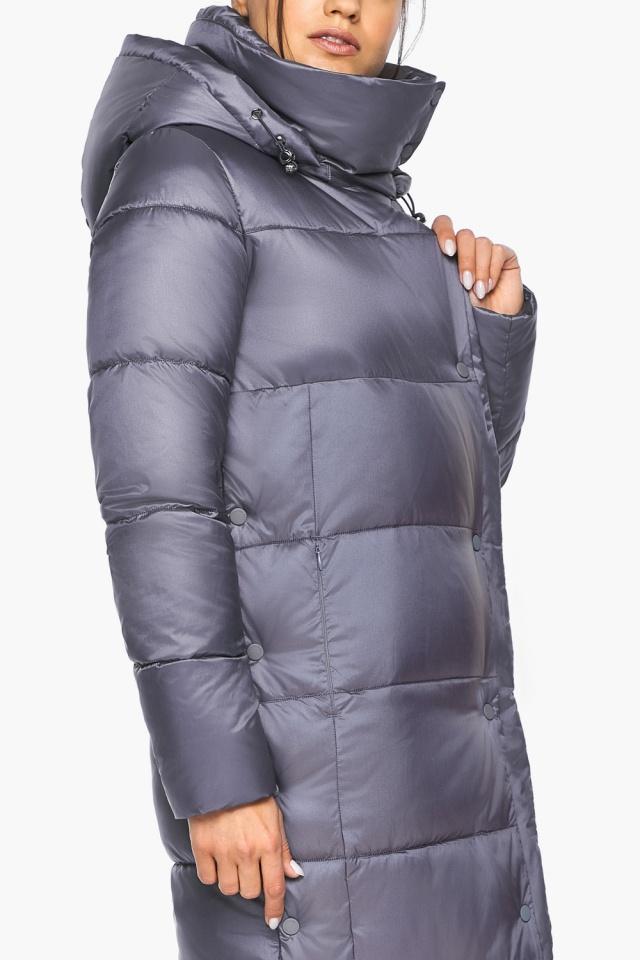 """Женская зимняя куртка длинная цвет жемчужно-серый модель 41830 Braggart """"Angel's Fluff"""" фото 8"""