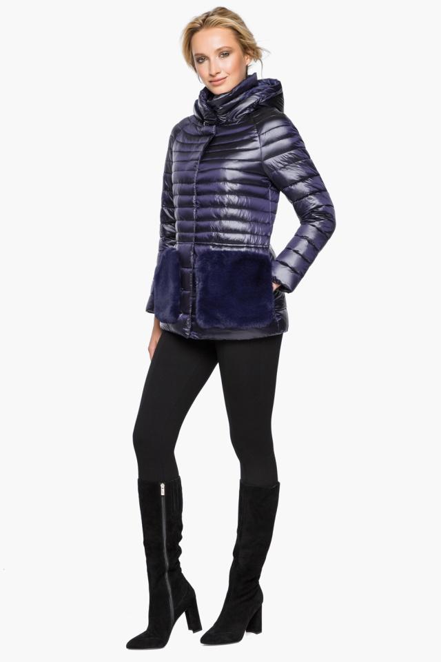 """Фирменная фиолетовая куртка женская осенне-весенняя модель 15115 Braggart """"Angel's Fluff"""" фото 2"""
