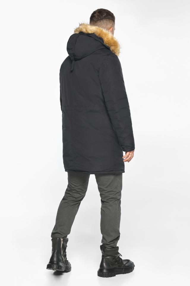 """Куртка – воздуховик свободного кроя чёрный зимний мужской модель 30618 Braggart """"Angel's Fluff Man"""" фото 8"""
