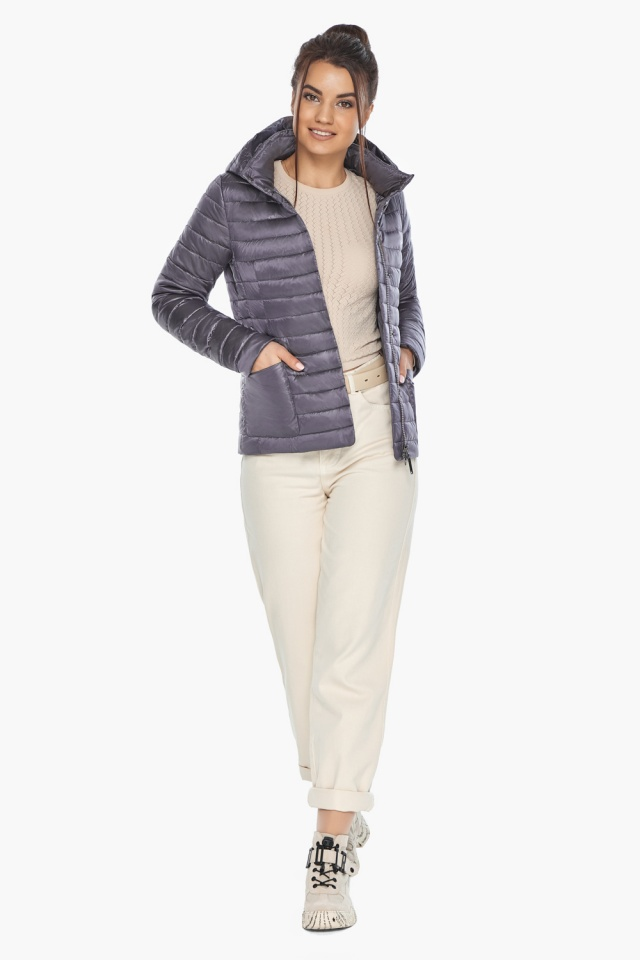 """Лавандовая куртка женская фирменная модель 67510 Braggart """"Angel's Fluff"""" фото 3"""