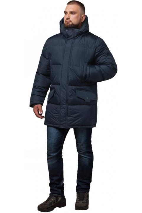 """Зимова чоловіча стильна куртка великого розміру колір темно-синій модель 3284 Braggart """"Titans"""" фото 1"""