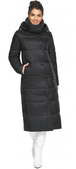 "Чёрная куртка зимняя тёплая женская модель 41830 Braggart ""Angel's Fluff"" фото 1"