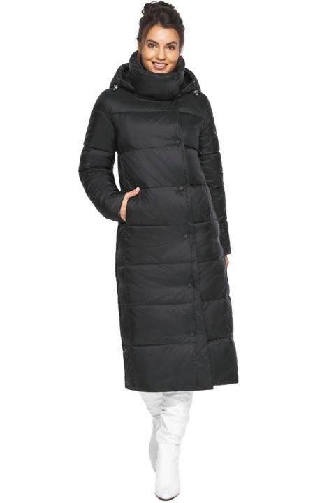 "Чорна куртка зимова тепла жіноча модель 41830 Braggart ""Angel's Fluff"" фото 1"