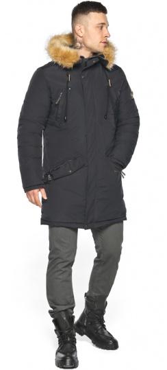 """Куртка – воздуховик свободного кроя чёрный зимний мужской модель 30618 Braggart """"Angel's Fluff Man"""" фото 1"""