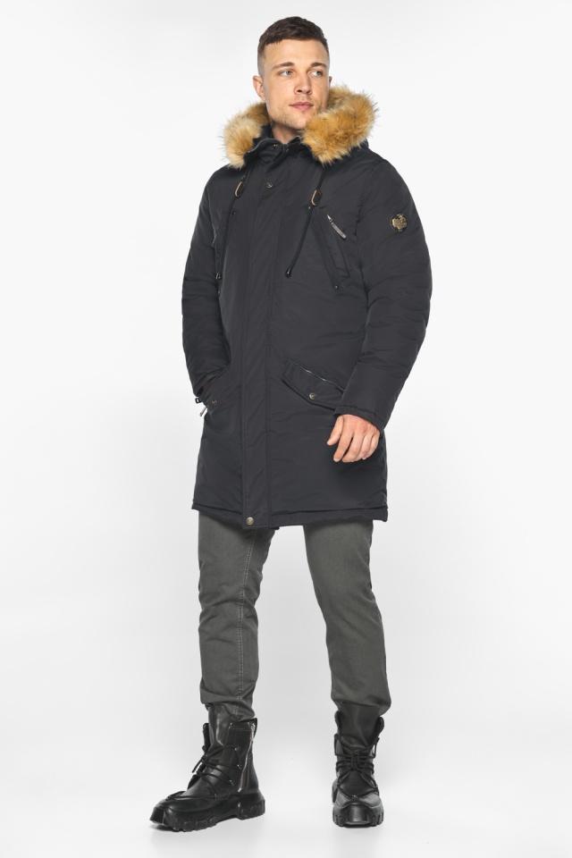 """Куртка – воздуховик свободного кроя чёрный зимний мужской модель 30618 Braggart """"Angel's Fluff Man"""" фото 4"""