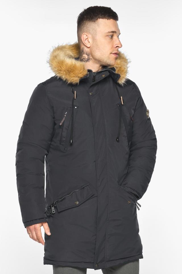 """Куртка – воздуховик свободного кроя чёрный зимний мужской модель 30618 Braggart """"Angel's Fluff Man"""" фото 5"""