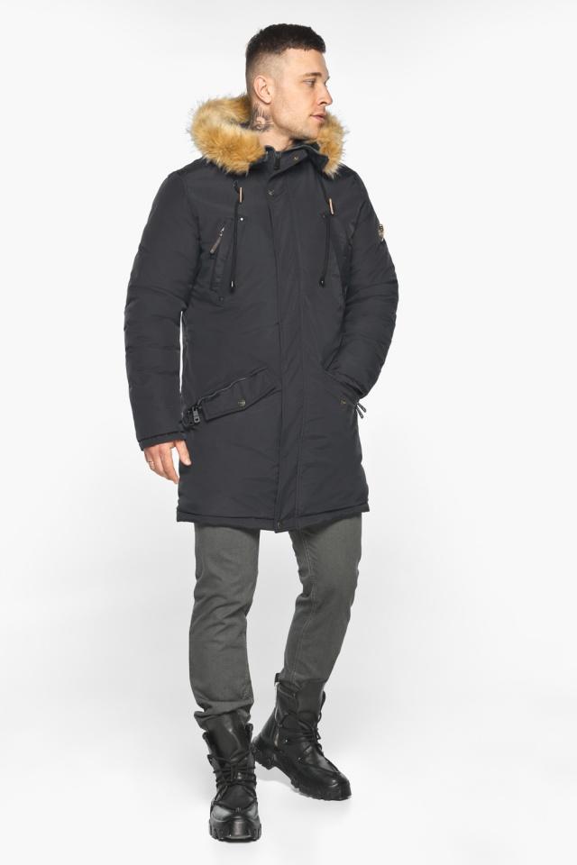 """Куртка – воздуховик свободного кроя чёрный зимний мужской модель 30618 Braggart """"Angel's Fluff Man"""" фото 2"""