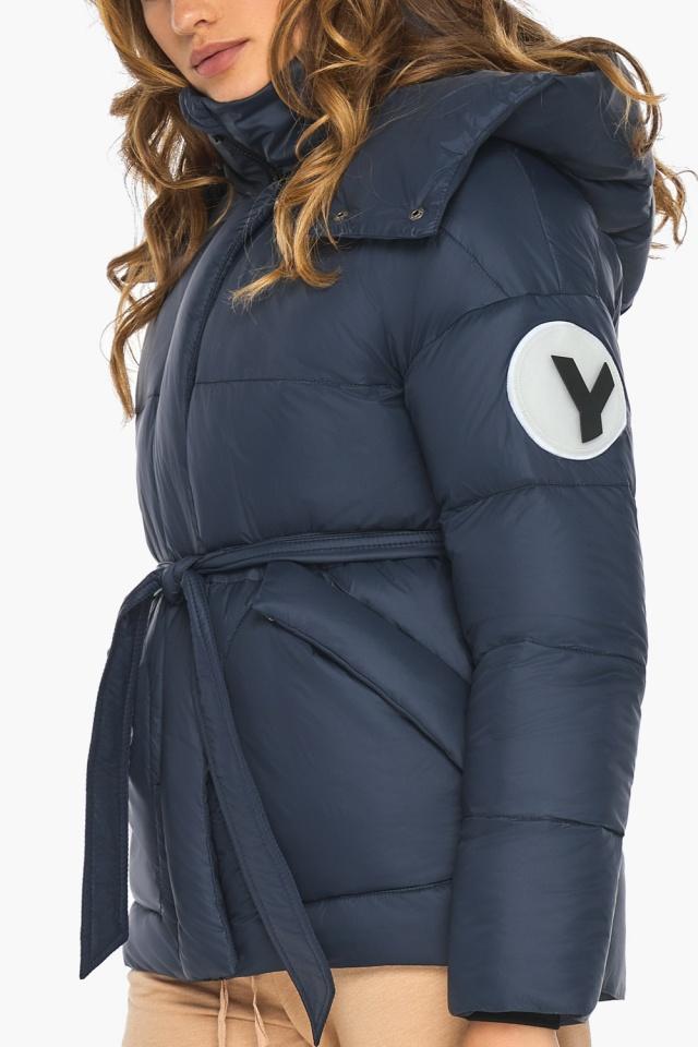 Исключительная куртка – осень с большими карманами синяя модель 24350 Youth фото 6