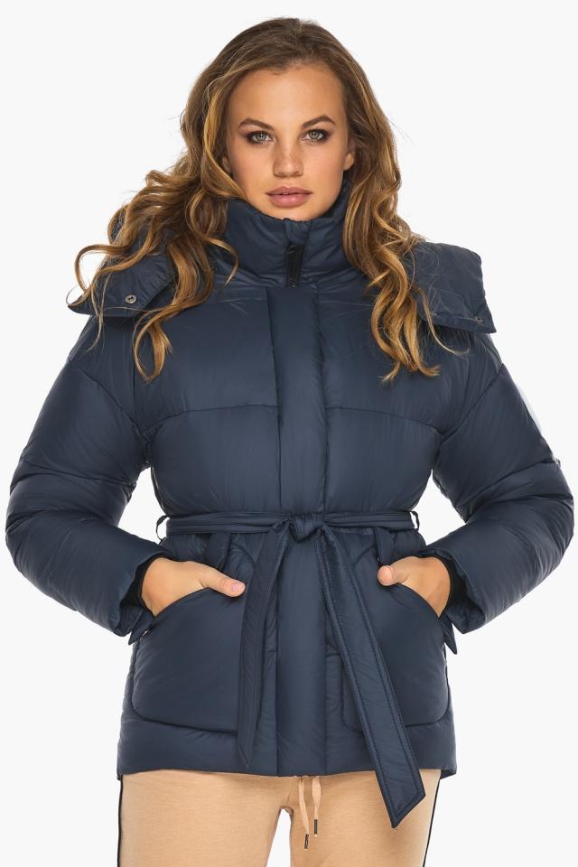 Исключительная куртка – осень с большими карманами синяя модель 24350 Youth фото 4