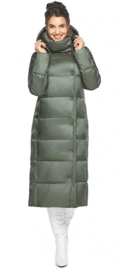"""Оливковая куртка зимняя женская качественная модель 41830 Braggart """"Angel's Fluff"""" фото 1"""