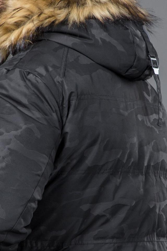 Куртка дизайнерская зимняя мужская цвет черный модель 53759 Tiger Force фото 8