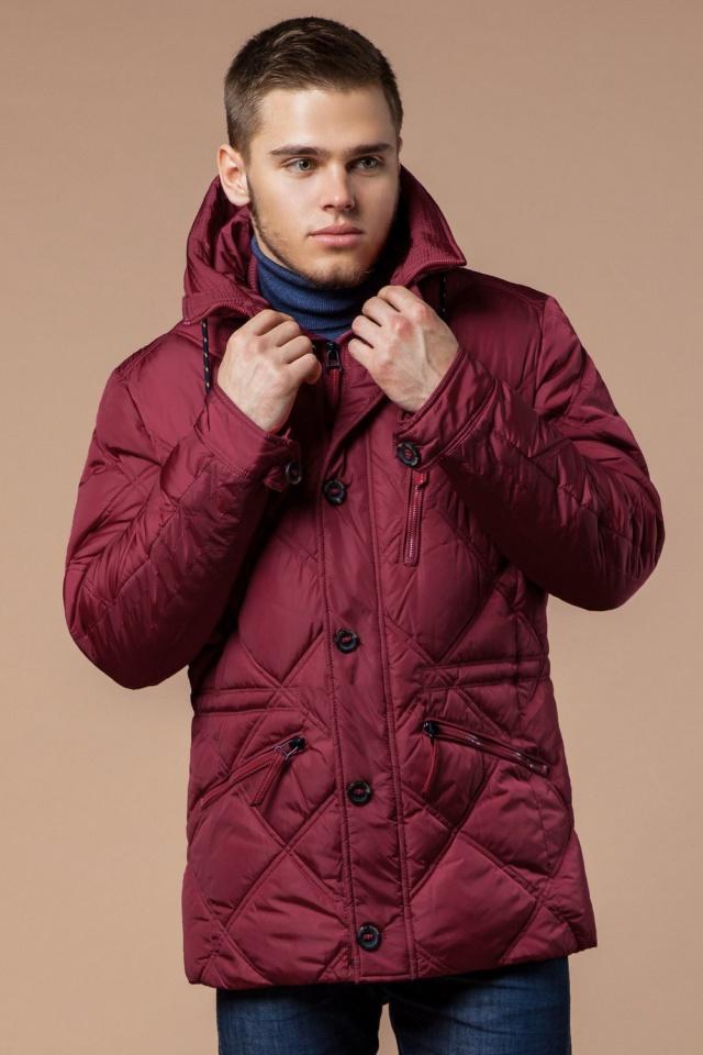 """Красная зимняя куртка стандартной длины мужская модель 12481 Braggart """"Dress Code"""" фото 4"""