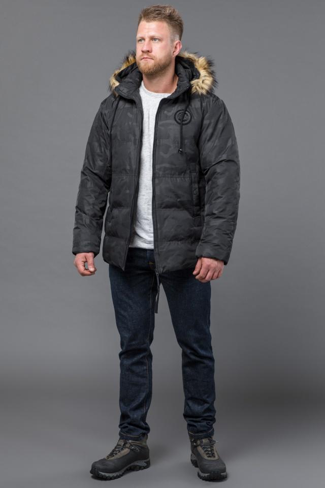 Куртка дизайнерская зимняя мужская цвет черный модель 53759 Tiger Force фото 2