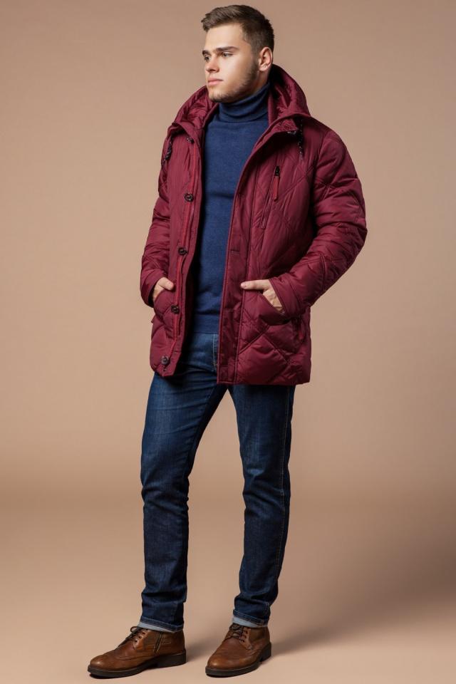 """Красная зимняя куртка стандартной длины мужская модель 12481 Braggart """"Dress Code"""" фото 3"""