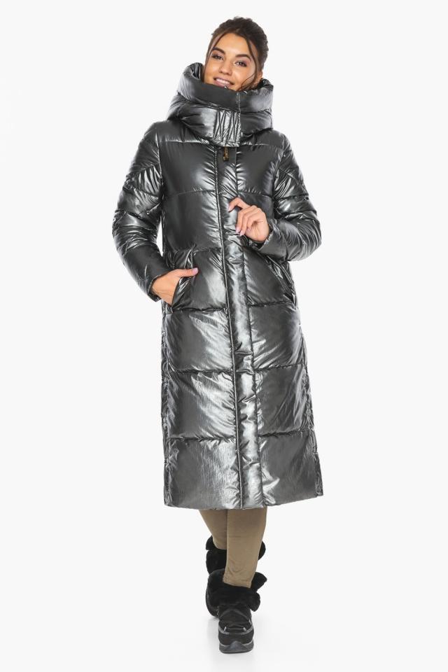 """Люксовая куртка женская цвет темное серебро модель 41565 Braggart """"Angel's Fluff"""" фото 6"""