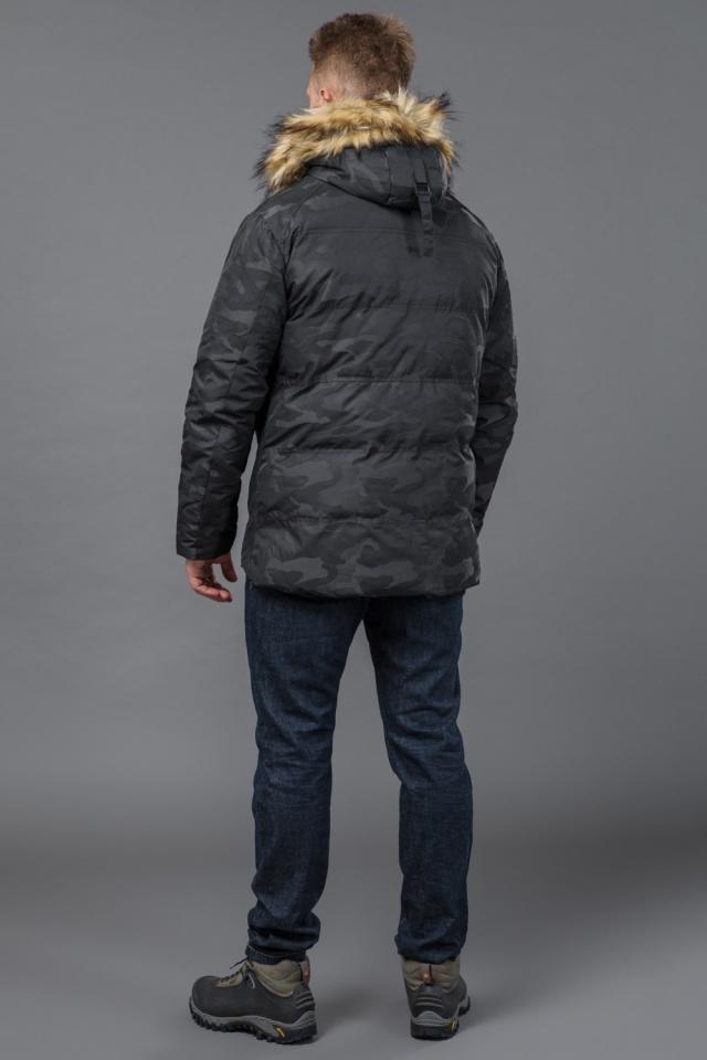 Куртка дизайнерская зимняя мужская цвет черный модель 53759 Tiger Force фото 5