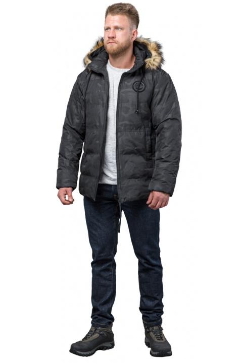 Куртка дизайнерська зимова чоловіча колір чорний модель 53759 Tiger Force фото 1