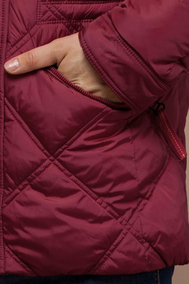 """Красная зимняя куртка стандартной длины мужская модель 12481 Braggart """"Dress Code"""" фото 7"""