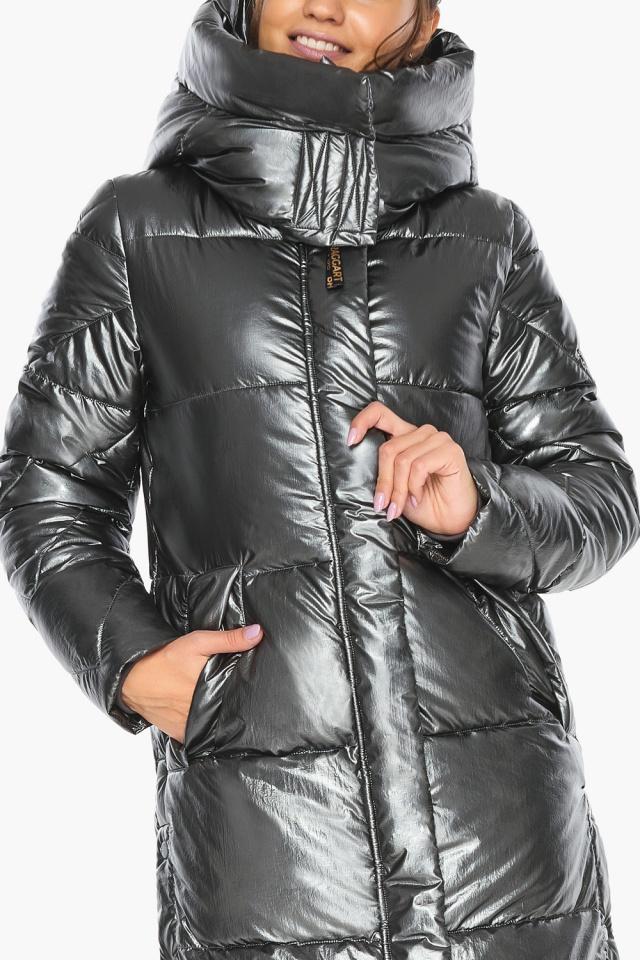 """Люксовая куртка женская цвет темное серебро модель 41565 Braggart """"Angel's Fluff"""" фото 10"""