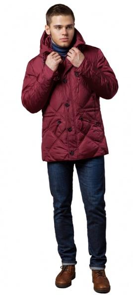 """Красная зимняя куртка стандартной длины мужская модель 12481 Braggart """"Dress Code"""" фото 1"""
