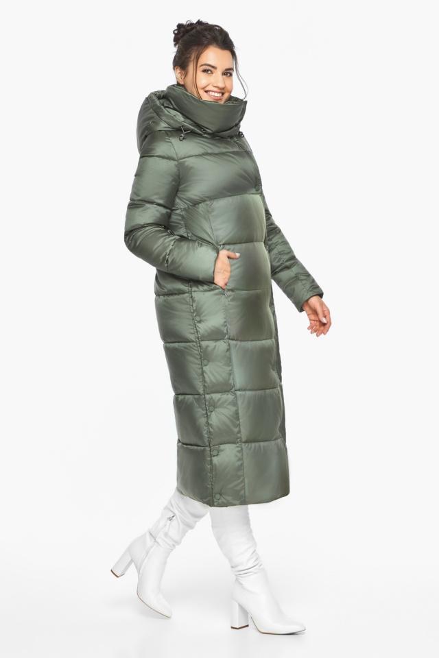"""Оливковая куртка зимняя женская качественная модель 41830 Braggart """"Angel's Fluff"""" фото 5"""