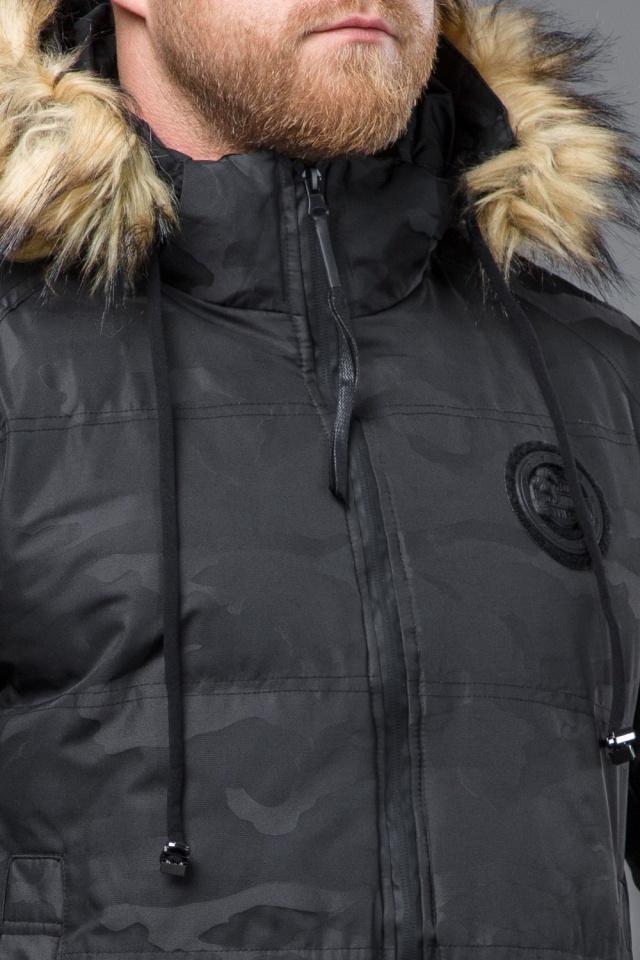 Куртка дизайнерская зимняя мужская цвет черный модель 53759 Tiger Force фото 6