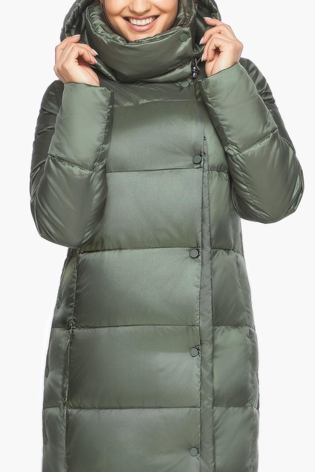 """Оливковая куртка зимняя женская качественная модель 41830 Braggart """"Angel's Fluff"""" фото 7"""