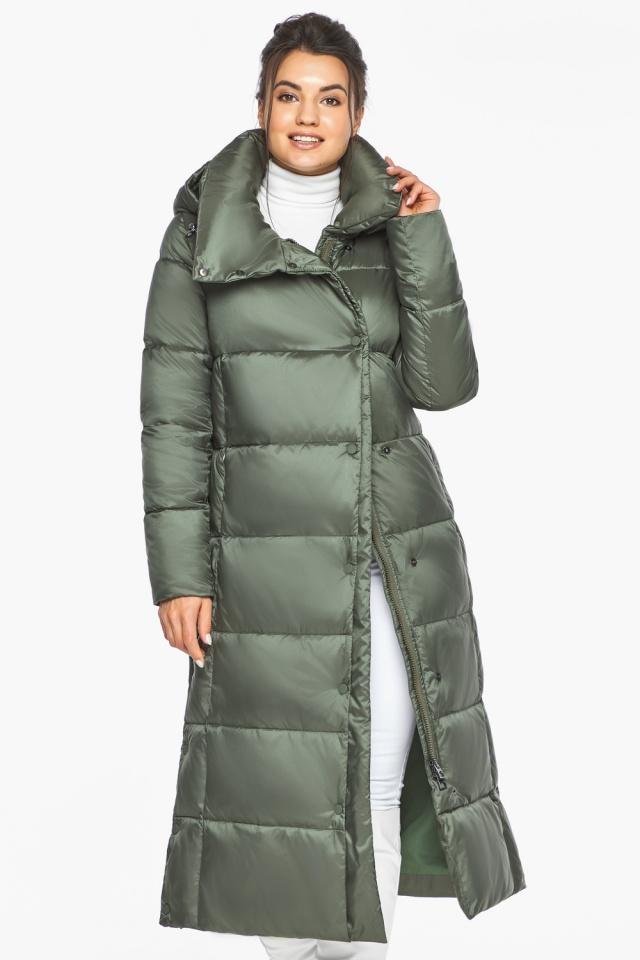 """Оливковая куртка зимняя женская качественная модель 41830 Braggart """"Angel's Fluff"""" фото 4"""