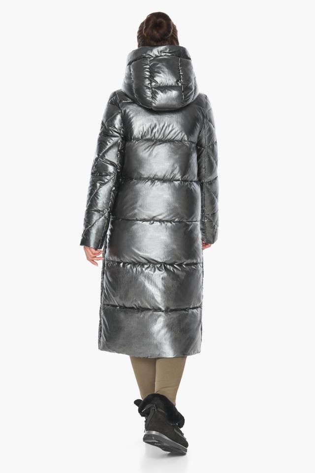 """Люксовая куртка женская цвет темное серебро модель 41565 Braggart """"Angel's Fluff"""" фото 9"""