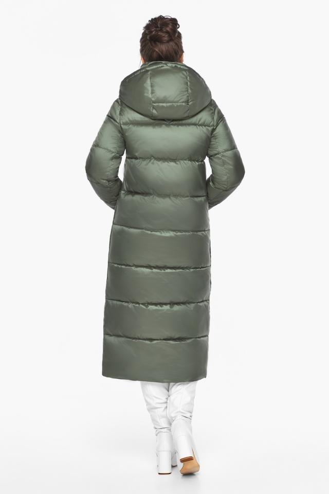"""Оливковая куртка зимняя женская качественная модель 41830 Braggart """"Angel's Fluff"""" фото 6"""
