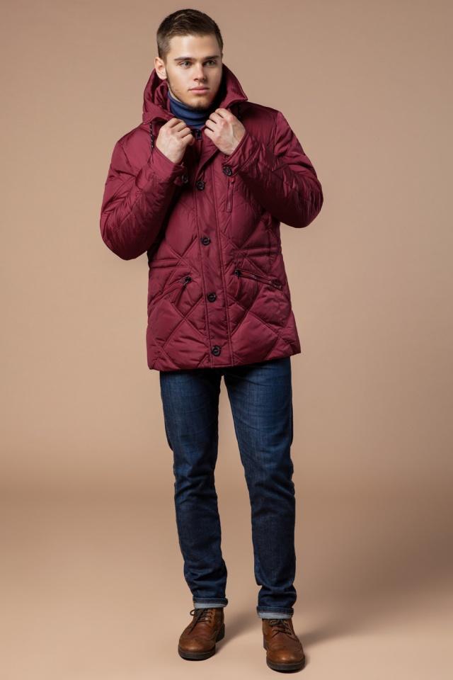 """Красная зимняя куртка стандартной длины мужская модель 12481 Braggart """"Dress Code"""" фото 2"""