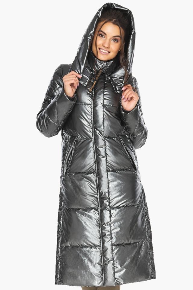 """Люксовая куртка женская цвет темное серебро модель 41565 Braggart """"Angel's Fluff"""" фото 3"""