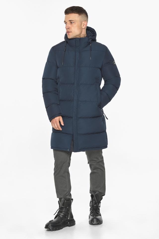 """Зимняя куртка с ветрозащитной планкой для мужчин цвет синий модель 49609 Braggart """"Dress Code"""" фото 2"""