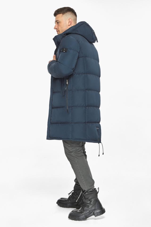 """Зимняя куртка с ветрозащитной планкой для мужчин цвет синий модель 49609 Braggart """"Dress Code"""" фото 7"""