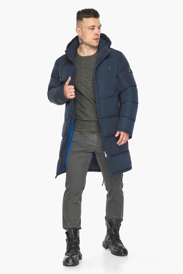 """Зимняя куртка с ветрозащитной планкой для мужчин цвет синий модель 49609 Braggart """"Dress Code"""" фото 5"""