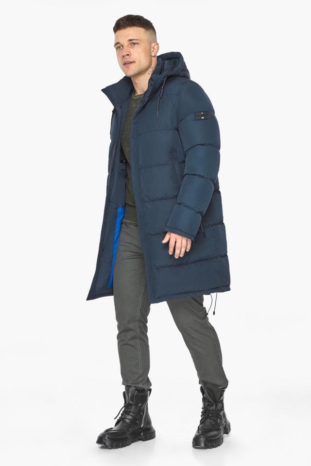 """Зимняя куртка с ветрозащитной планкой для мужчин цвет синий модель 49609 Braggart """"Dress Code"""" фото 3"""