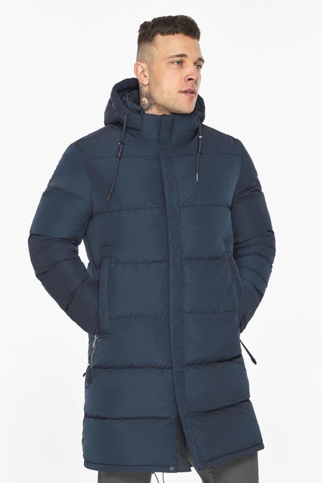 """Зимняя куртка с ветрозащитной планкой для мужчин цвет синий модель 49609 Braggart """"Dress Code"""" фото 4"""