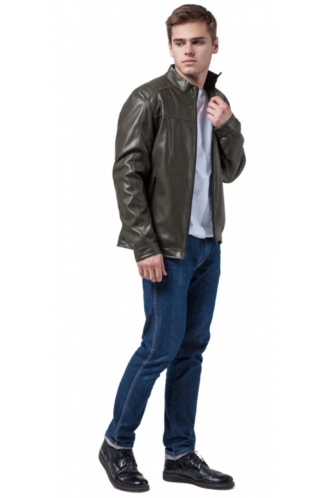 "Куртка осенне-весенняя качественная мужская цвета хаки модель 4834 Braggart ""Youth"" фото 1"