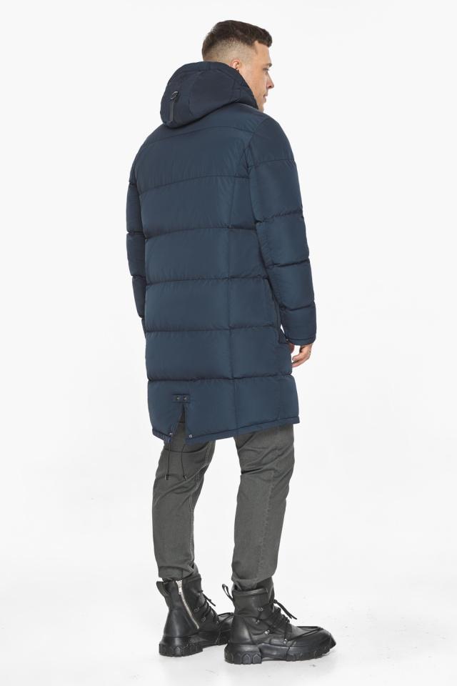 """Зимняя куртка с ветрозащитной планкой для мужчин цвет синий модель 49609 Braggart """"Dress Code"""" фото 9"""