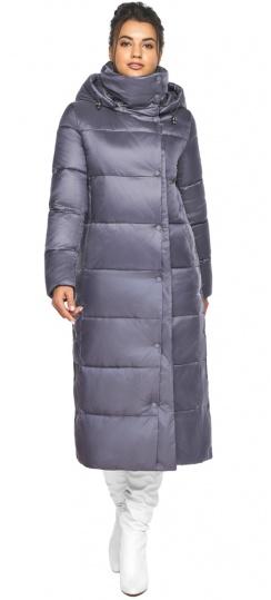 """Куртка с капюшоном женская цвет жемчужно-серый модель 41830 Braggart """"Angel's Fluff"""" фото 1"""