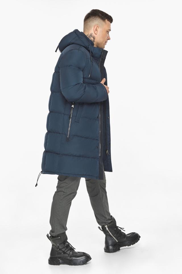 """Зимняя куртка с ветрозащитной планкой для мужчин цвет синий модель 49609 Braggart """"Dress Code"""" фото 8"""