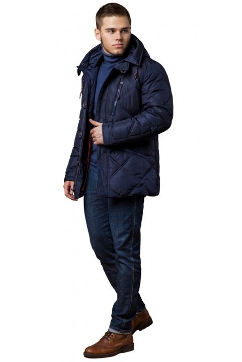 "Зимняя темно-синяя куртка с карманами мужская модель 12481 Braggart ""Dress Code"" фото 1"