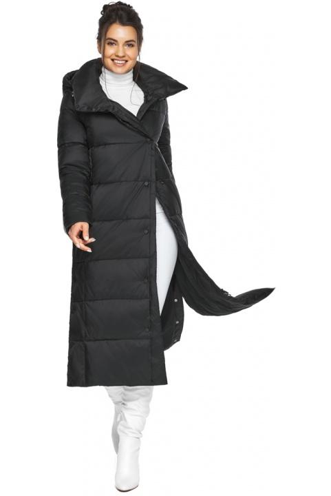 """Длинная куртка черная женская модель 41830 Braggart """"Angel's Fluff"""" фото 1"""