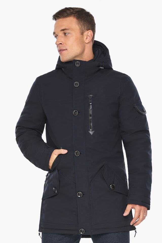 """Куртка – воздуховик комфортный на зиму мужской цвет синий модель 20140 Braggart """"Angel's Fluff Man"""" фото 4"""