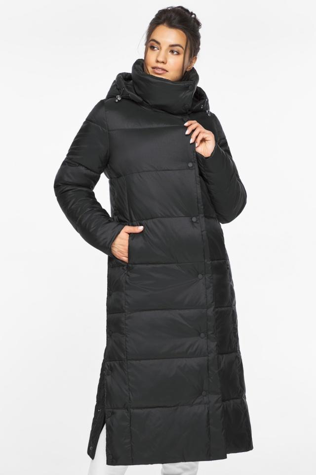 """Длинная куртка черная женская модель 41830 Braggart """"Angel's Fluff"""" фото 4"""