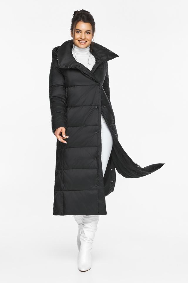 """Длинная куртка черная женская модель 41830 Braggart """"Angel's Fluff"""" фото 2"""