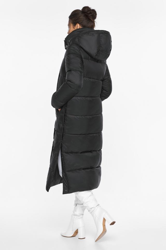 """Длинная куртка черная женская модель 41830 Braggart """"Angel's Fluff"""" фото 7"""