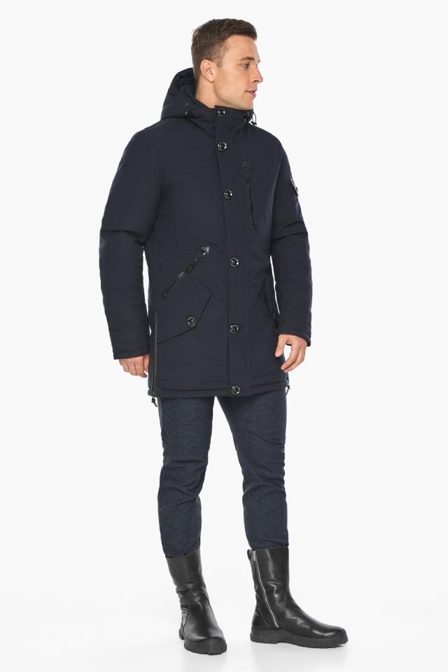 """Куртка – воздуховик комфортный на зиму мужской цвет синий модель 20140 Braggart """"Angel's Fluff Man"""" фото 5"""