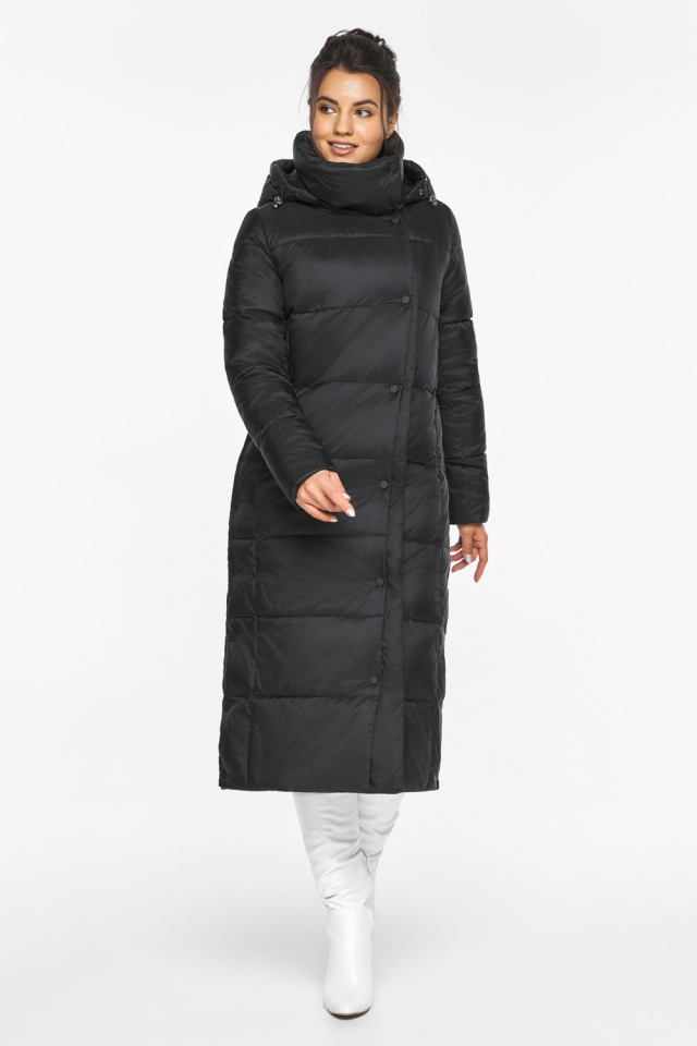 """Длинная куртка черная женская модель 41830 Braggart """"Angel's Fluff"""" фото 5"""